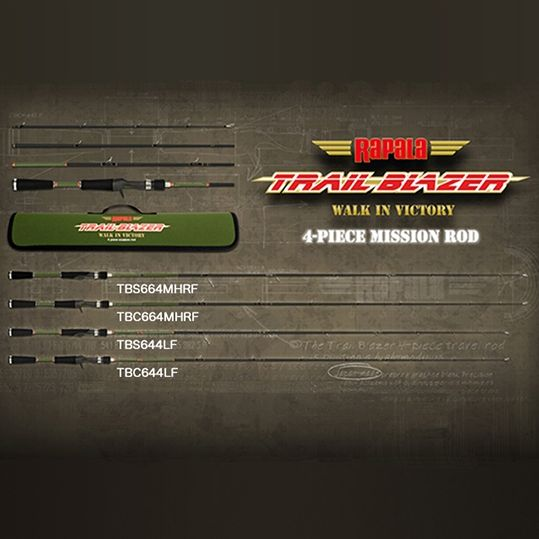 ラパラ トレイルブレイザー【4ピーススピニングロッド】TBS644LF