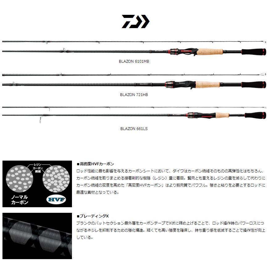 ダイワ ブレイゾン 722MHB【2ピースベイトロッド】