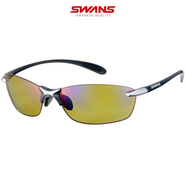SWANS(スワンズ)【偏光グラス】SALF-0168 GMR エアレス・リーフフィット 偏光ULTRAレンズモデル ダークガンメタリック×ライトシルバー/偏光ULライトグリーン