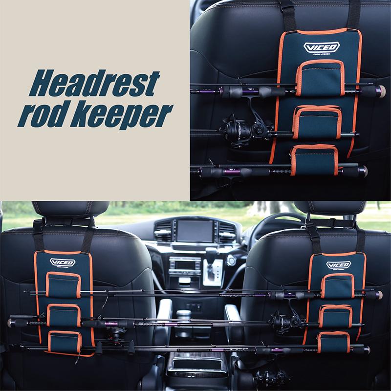 ヘッドレストにかけるだけで車内のロッド収納に 1年保証 VICEO ビセオ ヘッドレストロッドキーパー VC2093 上品