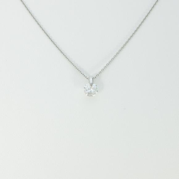 【未使用品】プラチナダイヤモンドネックレス 0.640ct・H・SI2・GOOD【中古】 【店頭受取対応商品】