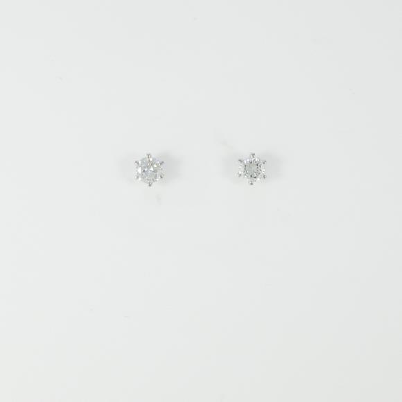 ST/プラチナダイヤモンドピアス 0.205ct・0.222ct・E-F・VS1【中古】 【店頭受取対応商品】