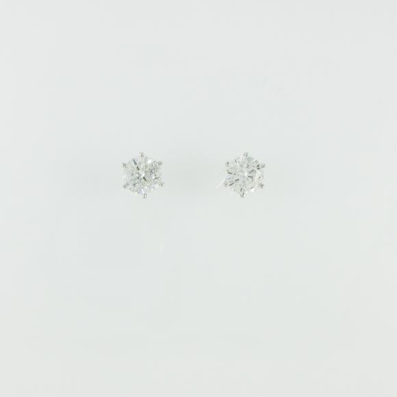 プラチナダイヤモンドピアス 0.724ct・0.710ct・F・SI2・GOOD【新品】 【店頭受取対応商品】