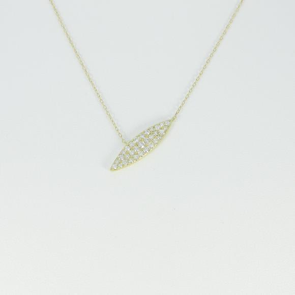 【新品】K18YG パヴェ ダイヤモンドネックレス【新品】 【店頭受取対応商品】