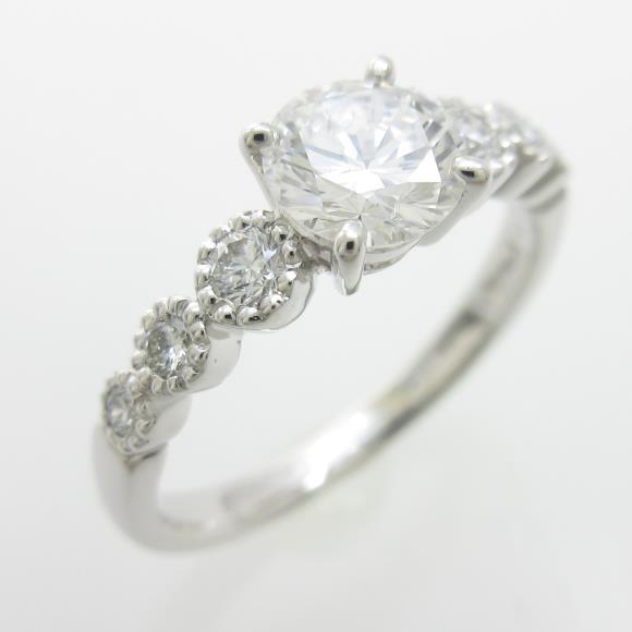 プラチナダイヤモンドリング 0.613ct・D・VS1・GOOD【中古】 【店頭受取対応商品】