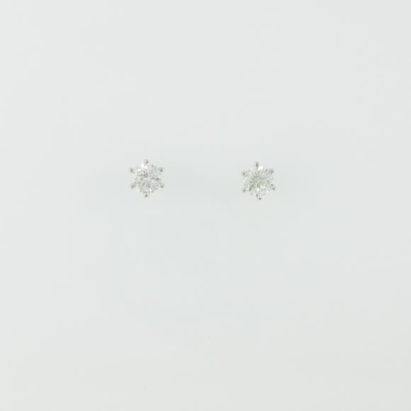 【新品】プラチナダイヤモンドピアス 0.262ct・0.254ct・G・SI2・GOOD【新品】 【店頭受取対応商品】