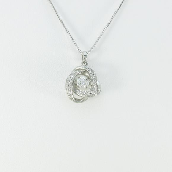 【新品】プラチナダイヤモンドネックレス 0.302ct・E・SI2・EXT【新品】 【店頭受取対応商品】
