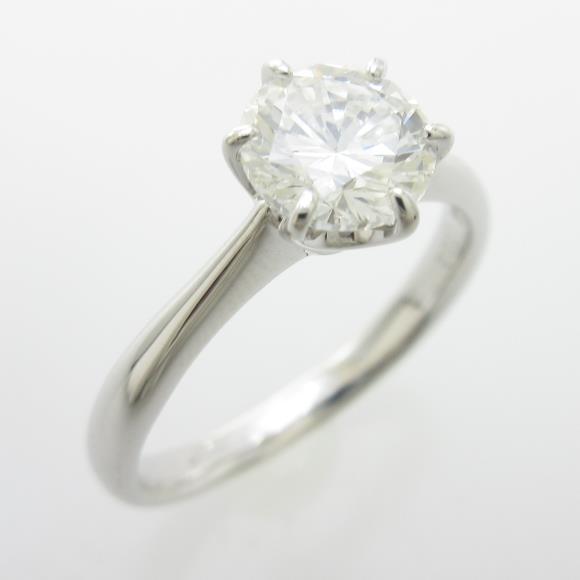 プラチナダイヤモンドリング 1.002ct・H・SI1・GOOD【中古】 【店頭受取対応商品】