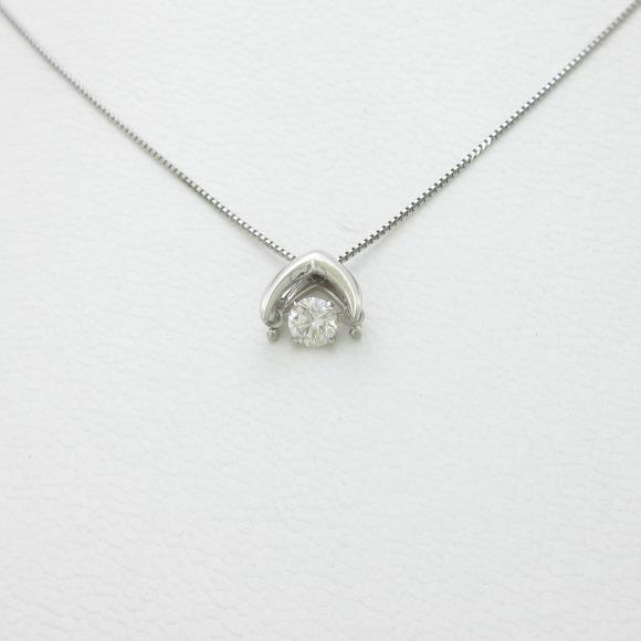 【新品】プラチナダイヤモンドネックレス 0.176ct・F・SI2・VERYGOOD【新品】 【店頭受取対応商品】
