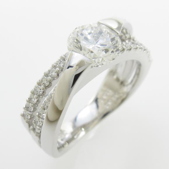 プラチナダイヤモンドリング 1.011ct・G・VS1・VERYGOOD【中古】 【店頭受取対応商品】