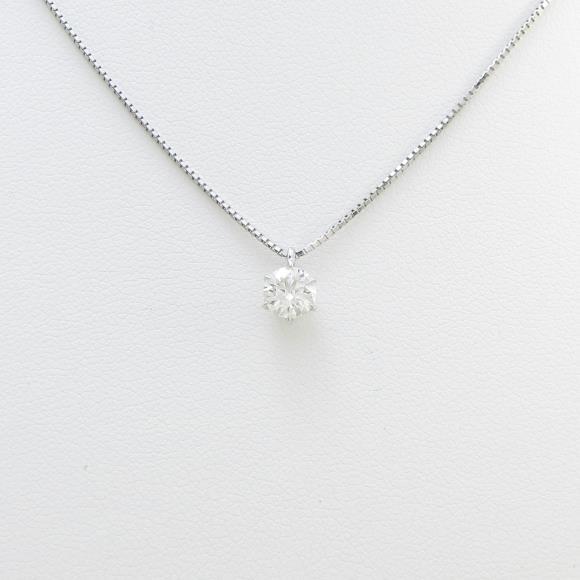プラチナダイヤモンドネックレス 0.511ct・G・VS1・EXT H&C【中古】 【店頭受取対応商品】