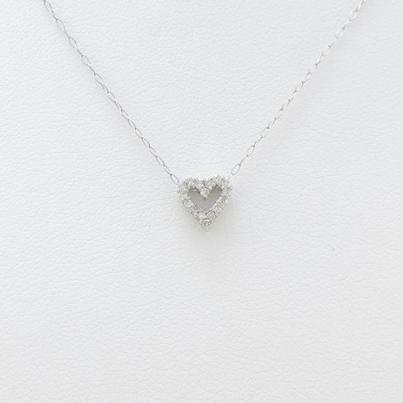 【新品】PT ハート ダイヤモンドネックレス【新品】 【店頭受取対応商品】