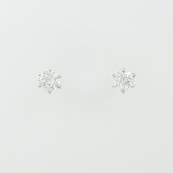 プラチナダイヤモンドピアス 1.006ct・1.074ct・H・SI1・GOOD【中古】 【店頭受取対応商品】