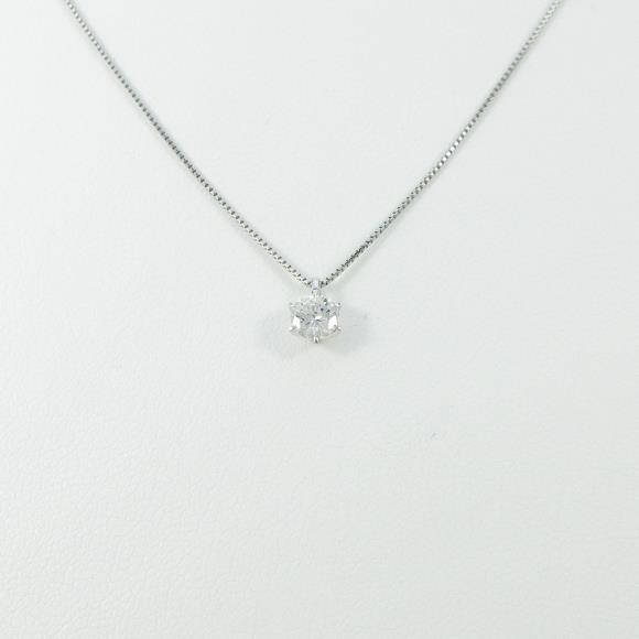 プラチナダイヤモンドネックレス 0.280ct・G・VS2・GOOD【中古】 【店頭受取対応商品】