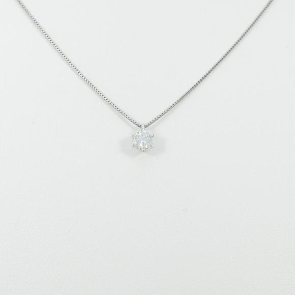 プラチナダイヤモンドネックレス 0.313ct・F・VVS2・GOOD【中古】 【店頭受取対応商品】