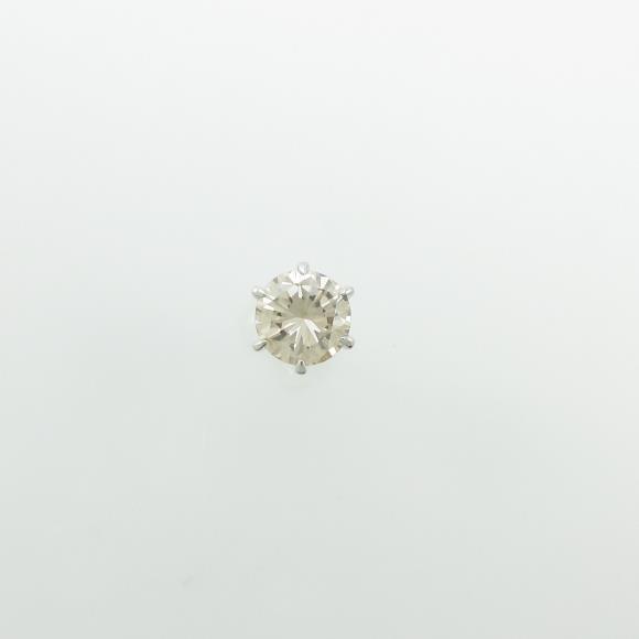 プラチナダイヤモンドピアス 0.766ct・FLB・VS2 片耳【中古】 【店頭受取対応商品】