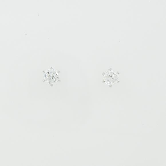 ST/プラチナダイヤモンドピアス 0.249ct・0.252ct・D・SI1・VG-G【中古】 【店頭受取対応商品】