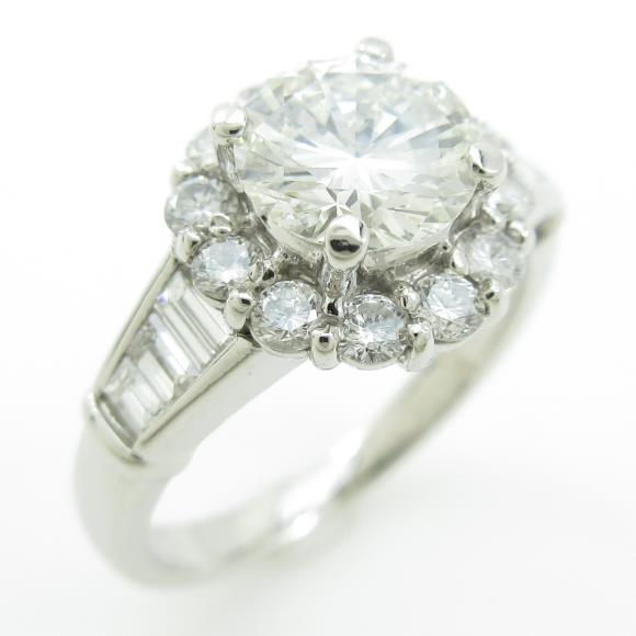 プラチナダイヤモンドリング 1.039ct・H・VS1・GOOD【中古】 【店頭受取対応商品】