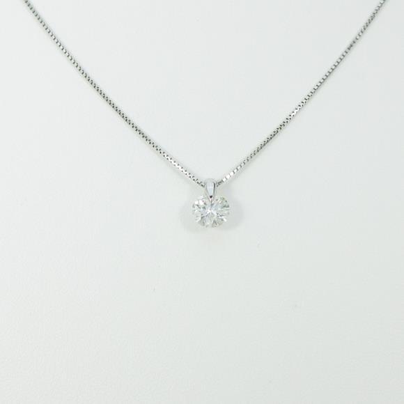 プラチナダイヤモンドネックレス 1.002ct・H・I1・GOOD【中古】 【店頭受取対応商品】