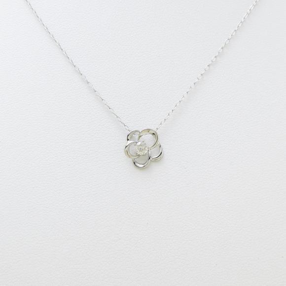 【新品】PT フラワー ダイヤモンドネックレス【新品】 【店頭受取対応商品】