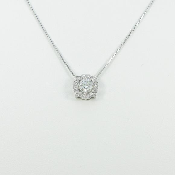 プラチナダイヤモンドネックレス 0.533ct・H・SI2・VERYGOOD【新品】 【店頭受取対応商品】