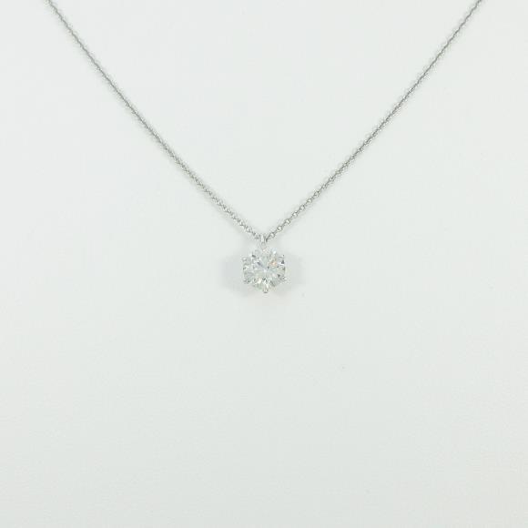 プラチナダイヤモンドネックレス 1.008ct・I・I1・GOOD【中古】 【店頭受取対応商品】