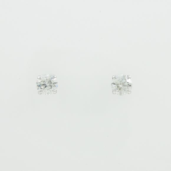 プラチナダイヤモンドピアス 0.305ct・0.306ct・G・I1・EXT【中古】 【店頭受取対応商品】