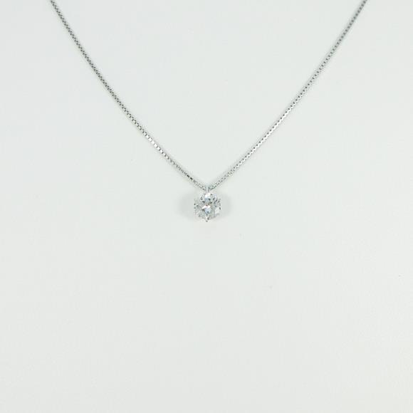 プラチナダイヤモンドネックレス 0.588ct・G・SI2・VERYGOOD【中古】 【店頭受取対応商品】