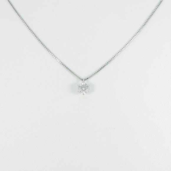 プラチナダイヤモンドネックレス 0.504ct・D・SI1・EXT【中古】 【店頭受取対応商品】