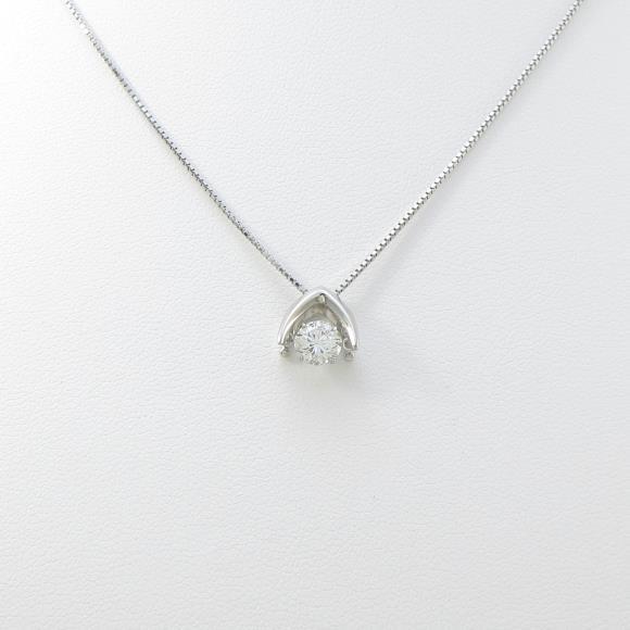 プラチナダイヤモンドネックレス 0.516ct・H・SI2・GOOD【中古】 【店頭受取対応商品】