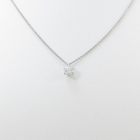 プラチナダイヤモンドネックレス 0.280ct・D・SI2・GOOD【中古】 【店頭受取対応商品】