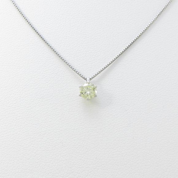 プラチナダイヤモンドネックレス 0.340ct・FLY・VS1【中古】 【店頭受取対応商品】