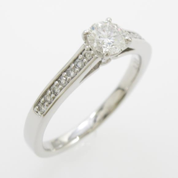 プラチナダイヤモンドリング 0.323ct・E・VVS2・EXT【中古】 【店頭受取対応商品】