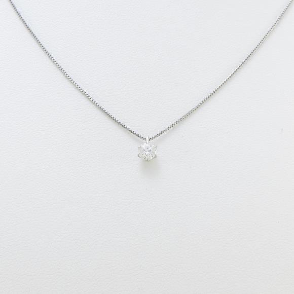 プラチナダイヤモンドネックレス 0.222ct・D・VVS1・VERYGOOD【中古】 【店頭受取対応商品】