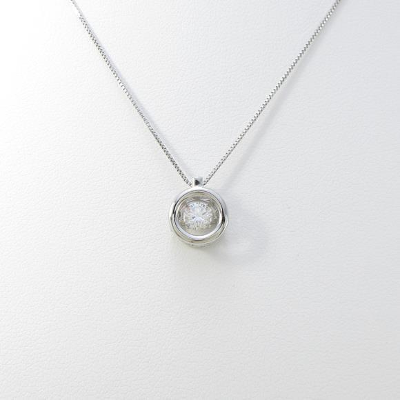 プラチナダイヤモンドネックレス 0.303ct・D・SI1・VERYGOOD【中古】 【店頭受取対応商品】