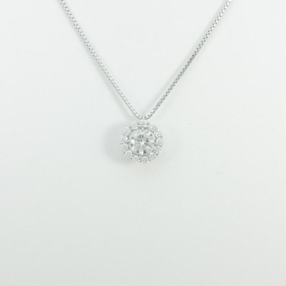 【新品】プラチナダイヤモンドネックレス 0.535ct・E・SI2・GOOD【新品】 【店頭受取対応商品】