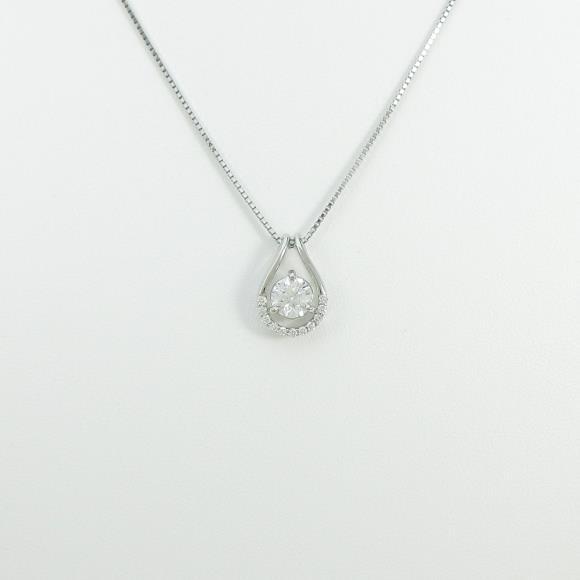 【新品】プラチナダイヤモンドネックレス 0.715ct・F・SI2・GOOD【新品】 【店頭受取対応商品】