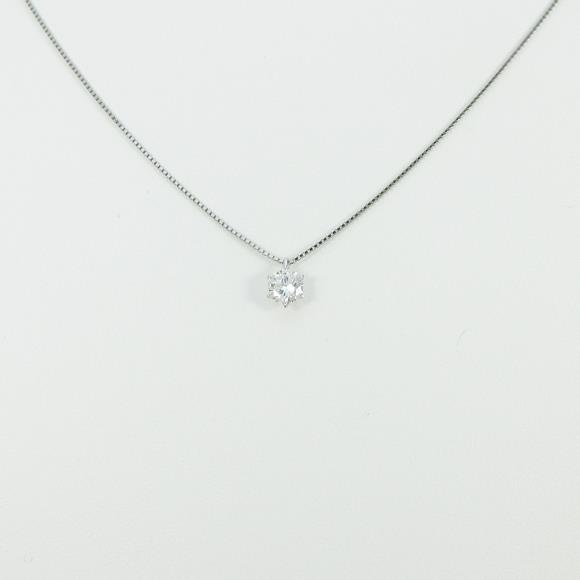 プラチナダイヤモンドネックレス 0.548ct・G・VS1・GOOD【中古】 【店頭受取対応商品】
