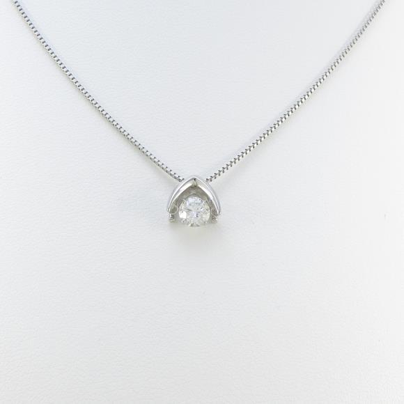プラチナダイヤモンドネックレス 0.517ct・H・SI2・EXT【中古】 【店頭受取対応商品】