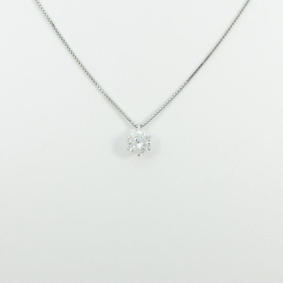 プラチナダイヤモンドネックレス 0.646ct・H・SI1・VERYGOOD【中古】 【店頭受取対応商品】