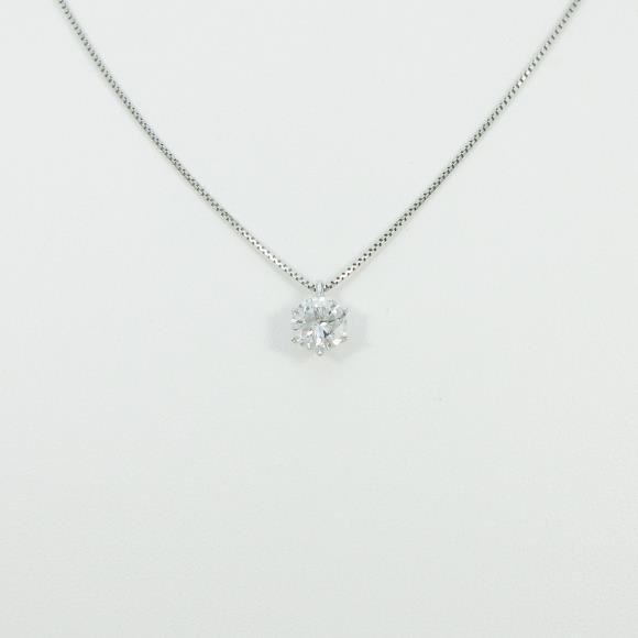 プラチナダイヤモンドネックレス 1.017ct・F・SI2・GOOD【中古】 【店頭受取対応商品】