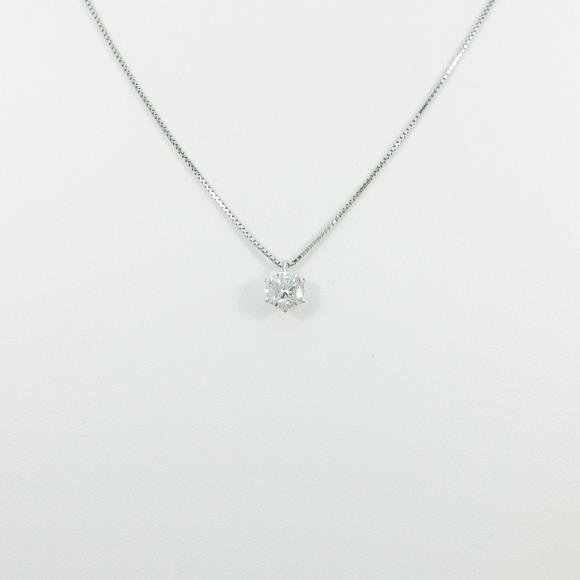 プラチナダイヤモンドネックレス 0.728ct・H・SI1・GOOD【中古】 【店頭受取対応商品】