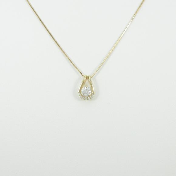 K18YG ダイヤモンドネックレス 0.353ct・H・SI2・VERYGOOD【新品】 【店頭受取対応商品】