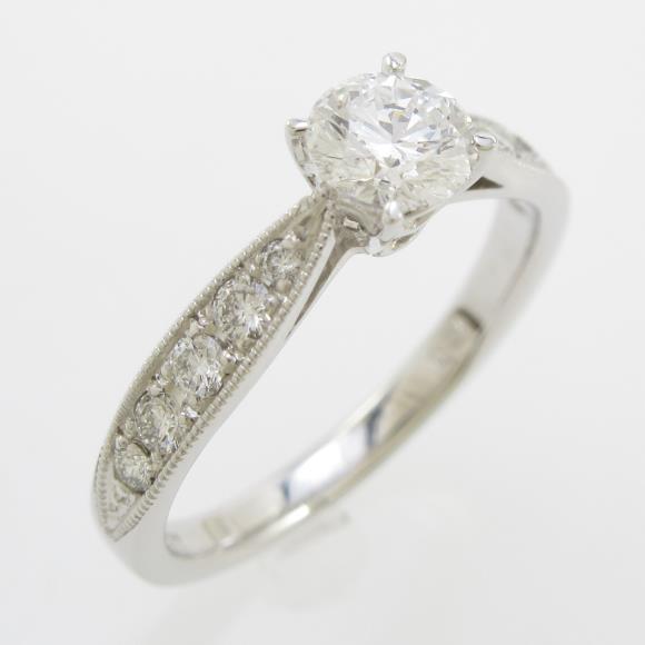 プラチナダイヤモンドリング 0.403ct・D・VVS1・EXT【中古】 【店頭受取対応商品】