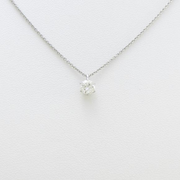 プラチナダイヤモンドネックレス 0.324ct・H・SI1・EXCELLENT【中古】 【店頭受取対応商品】