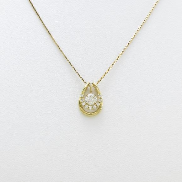 K18YG ダイヤモンドネックレス 0.270ct・G・SI2・GOOD【新品】 【店頭受取対応商品】