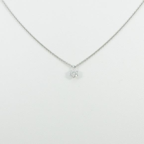 プラチナダイヤモンドネックレス 0.208ct・E・VVS1・EXT【中古】 【店頭受取対応商品】
