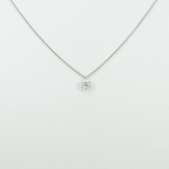 プラチナダイヤモンドネックレス 0.304ct・H・I1・GOOD【中古】 【店頭受取対応商品】