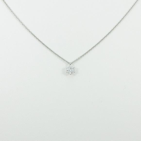 プラチナダイヤモンドネックレス 0.325ct・F・I1・GOOD【中古】 【店頭受取対応商品】