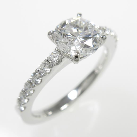 プラチナダイヤモンドリング 1.022ct・D・SI1・GOOD【中古】 【店頭受取対応商品】
